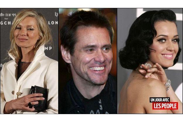 Kate Moss, Jim Carrey, Katy Perry