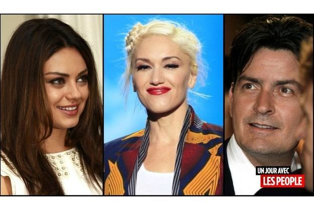 Mila Kunis Gwen Stefani Charlie Sheen