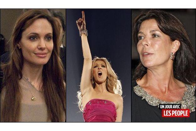 Angelina Jolie, Céline Dion, Caroline de Monaco