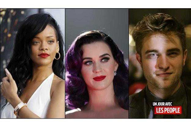 Rihanna, Katy Perry et Robert Pattinson.