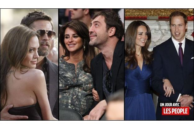 Brad Pitt et Angelina Jolie, Penelope Cruz et Javier Bardem, le Prince William et Kate Middleton