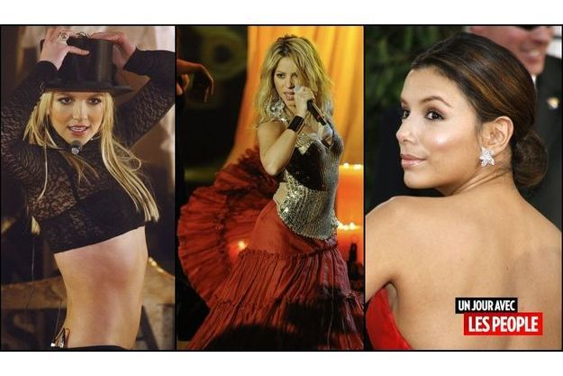 Britney Spears, Shakira, Eva Longoria