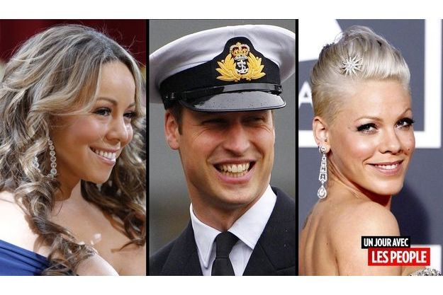 Mariah Carey, le prince William et Pink