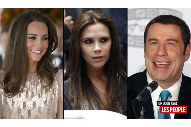 Kate, Victoria Beckham et John Travolta
