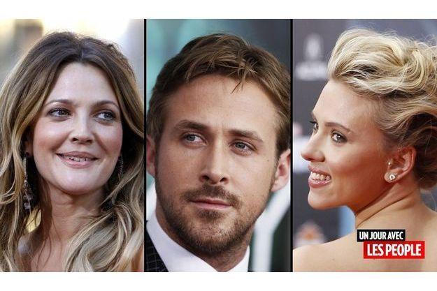 Drew Barrymore, Ryan Gosling et Scarlett Johansson