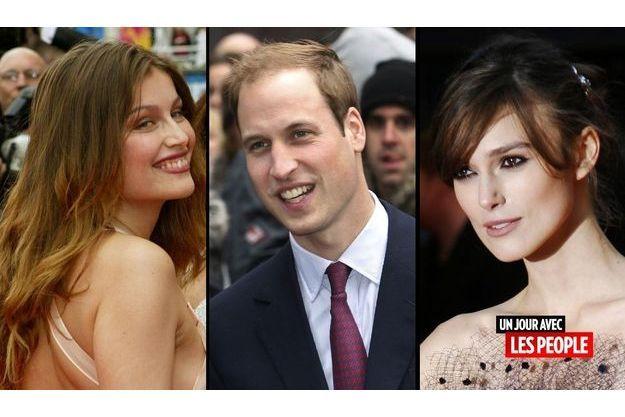 Laetitia Casta, le prince William et Keira Knightley