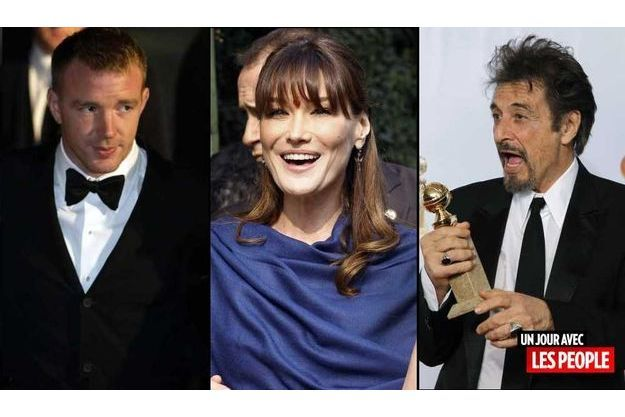 Guy Richie, Carla Bruni et Al Pacino.
