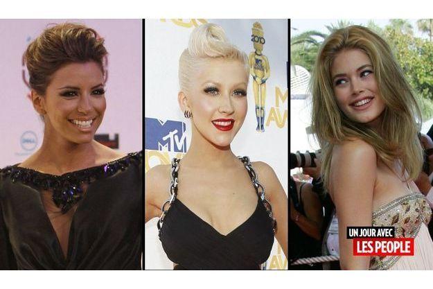 Eva Longoria, Christina Aguilera et Doutzen Kroes