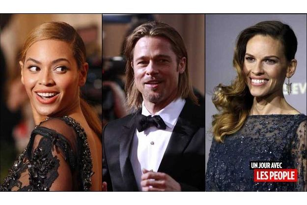 Beyonce, Brad Pitt et Hilary Swank.