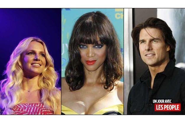 Britney Spears, Tyra Banks et Tom Cruise