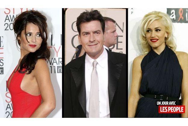Cheryl Cole, Charlie Sheen et Gwen Stefani.