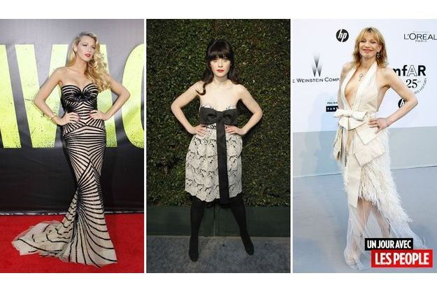 Blake Lively, Zooey Deschanel et Courtney Love.