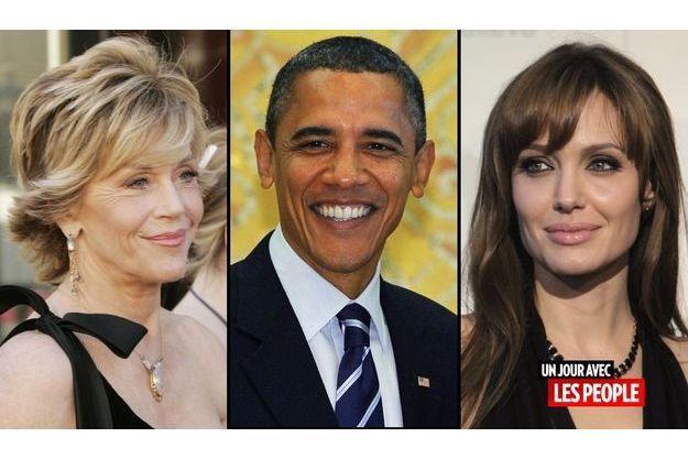 Jane Fonda, Barack Obama et Angelina Jolie