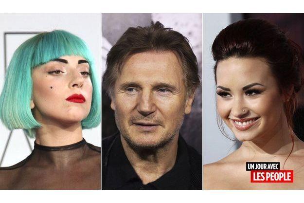Lady Gaga, Liam Neeson et Demi Lovato