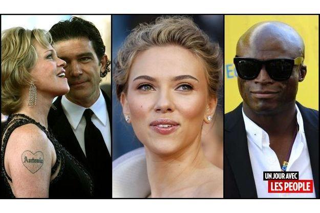 Melanie Griffith et Antonio Banderas, Scarlett Johansson et Seal