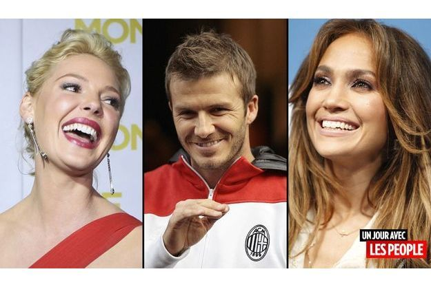 Katherine Heigl, David Beckham, Jennifer Lopez