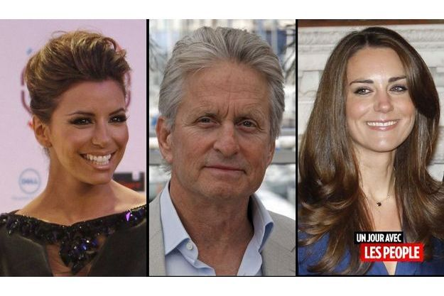 Eva Longoria, Michael Douglas et Kate Middleton