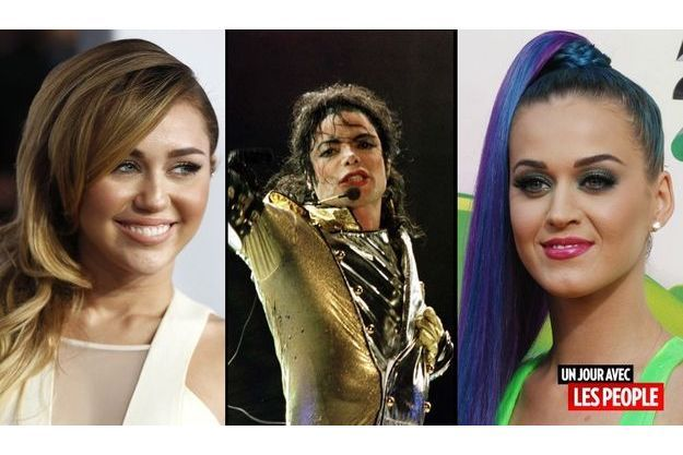 Miley Cyrus, Michael Jackson et Katy Perry