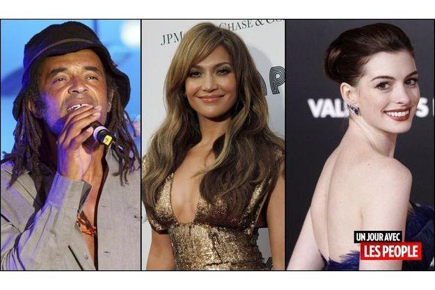 Yannick Noah, Jennifer Lopez, Anne Hathaway
