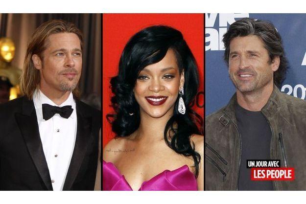 Brad Pitt, Rihanna et Patrick Dempsey