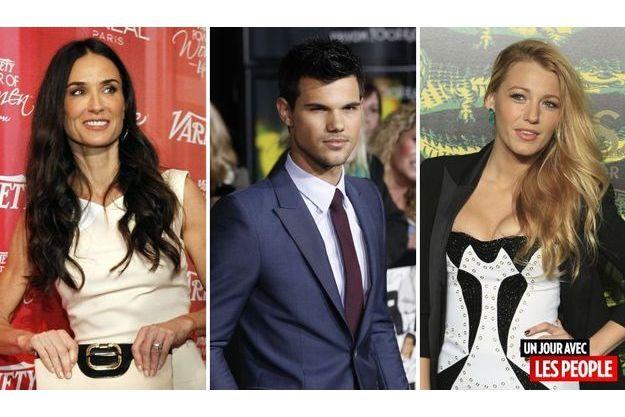 Demi Moore, Taylor Lautner et Blake Lively.