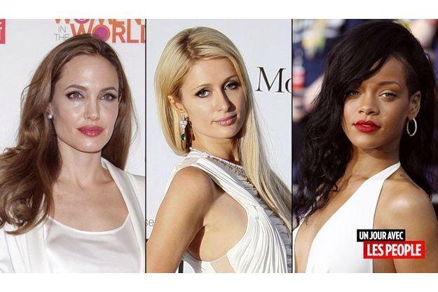 Rihanna, Paris Hilton et Angelina Jolie