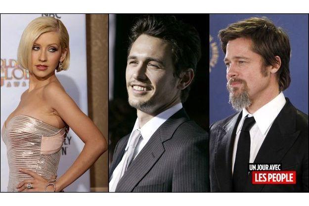 Christina Aguilera, James Franco et Brad Pitt