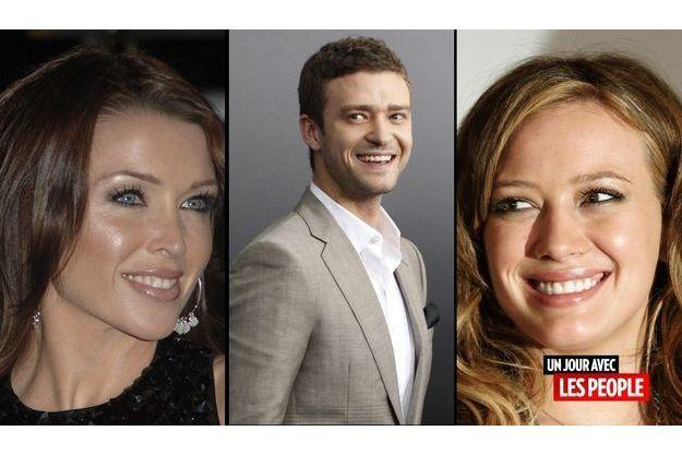 Dannii Minogue, Justin Timberlake et Hillary Duff