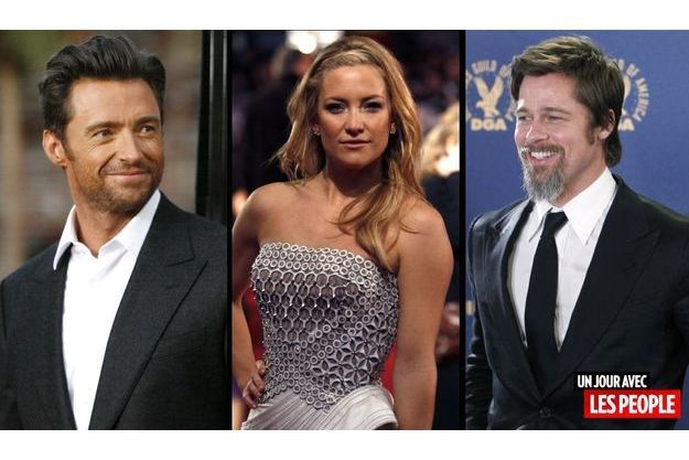 Hugh Jackman, Kate Hudson et Brad Pitt.