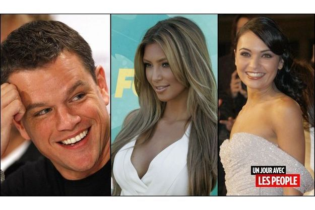 Matt Damon, Kim Kardashian et Valérie Bègue