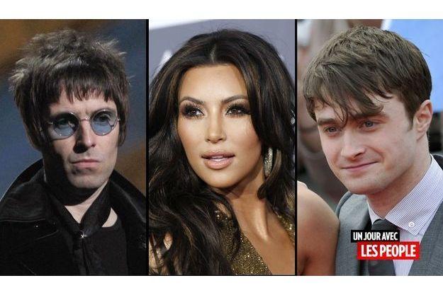 Liam Gallagher, Kim Kardashian et Daniel Radcliffe