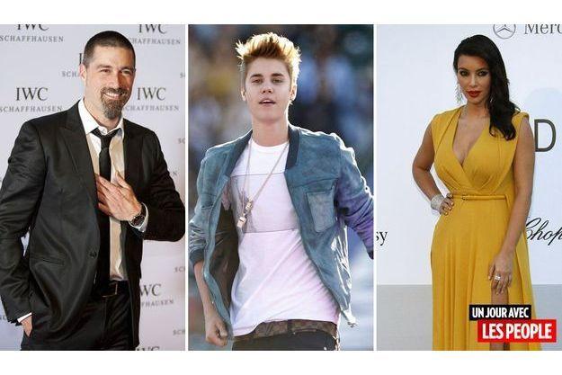 Matthew Fox, Justin Bieber et Kim Kardashian.