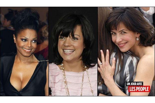 Janet Jackson, Lily Allen, Sophie Marceau