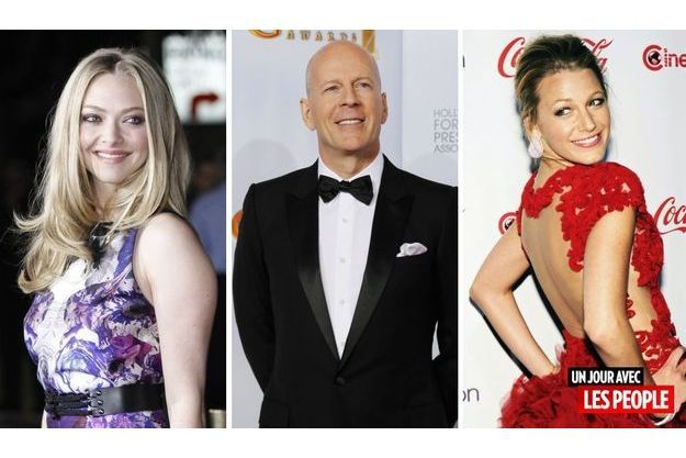 Amanda Seyfried, Bruce Willis et Blake Lively.