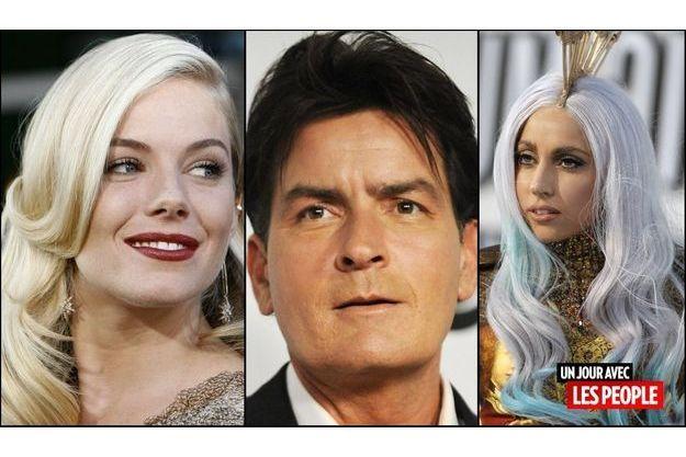 Sienna Miller, Charlie Sheen, Lady GaGa