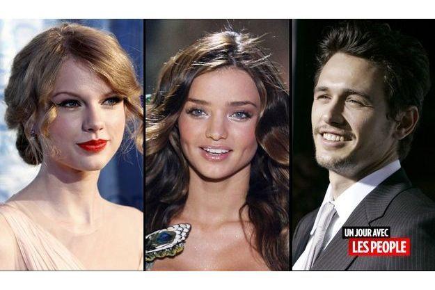Taylor Swift, Miranda Kerr et James Franco