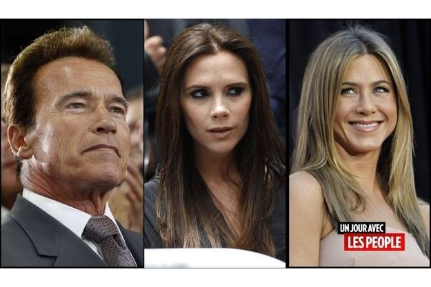 Arnold Schwarzenegger, Victoria Beckham, Jennifer Aniston