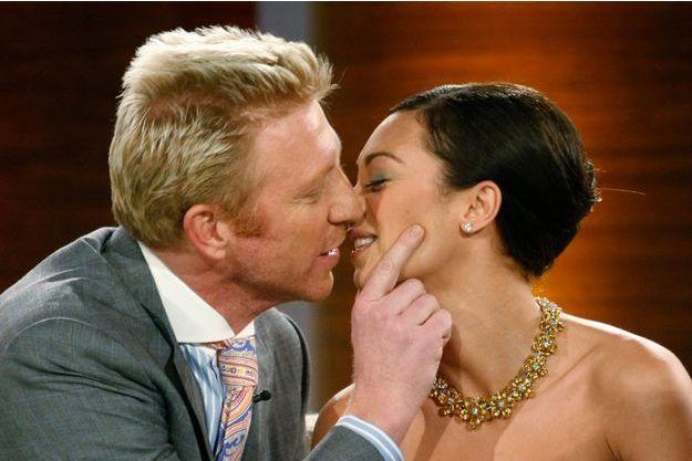 Boris Becker avec sa nouvelle femme Lilly.