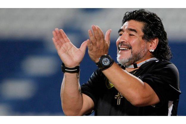 Diego Maradona, papa pour la cinquième fois.