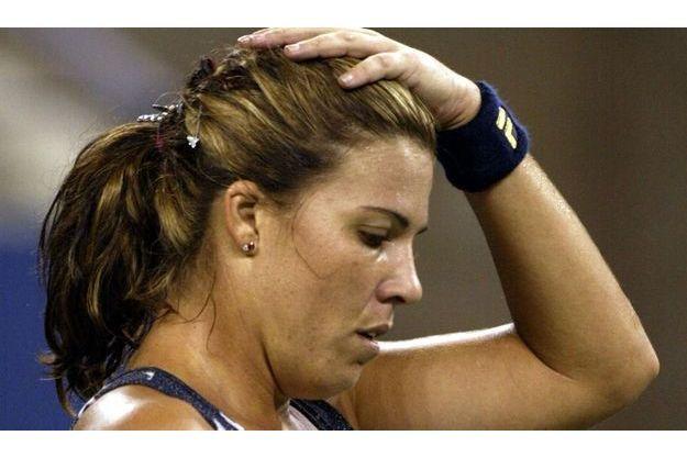 Jennifer Capriati au tournoi de Wimbledon en juin 2003