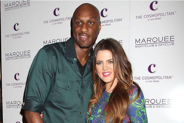 Lamar Odom aux côtés de son ex-femme, Khloé Kardashian, en 2011. Le couple s'est séparé en 2013.