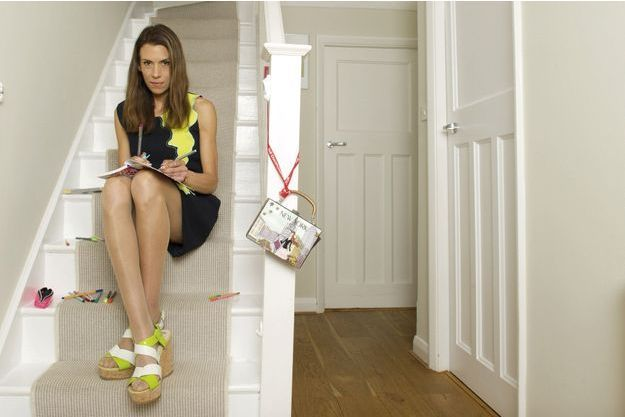Dans la maison qu'elle a louée à Wimbledon, fin juin. Marion travaille à la ligne haut de gamme qu'elle espère présenter lors de la fashion week d'octobre à Paris.