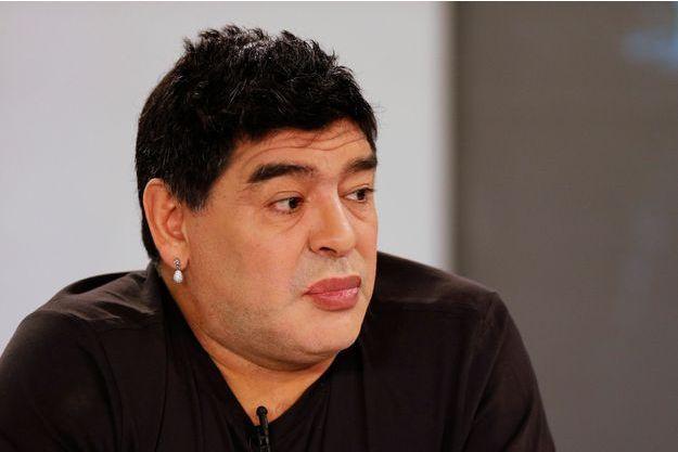 """Diego Maradona sur le plateau de son émission """"De Zurda"""" le 1er mars dernier"""