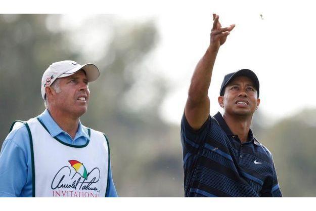 Tiger Woods et Steve Williams lors du tournoi d'Orlando, en Floride, en mars 2009.
