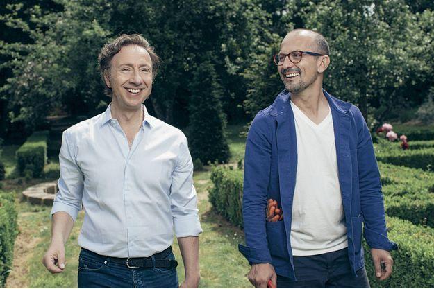 Stéphane Bern et Lionel, son compagnon.