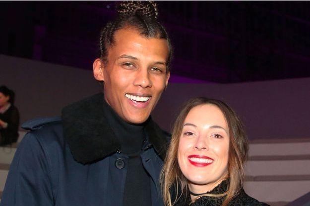Stromae et sa femme Coralie Barbier au défilé Victoria's Secret à Paris, le 30 novembre 2016