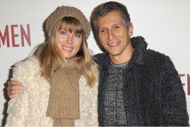 Nagui et son épouse, la comédienne Mélanie Page, en février 2014