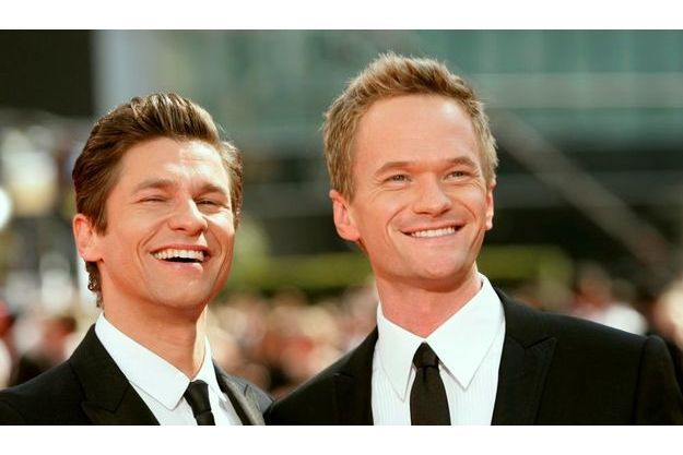 Neil Patrick Harris et David Burtka aux Emmy Awards en 2009