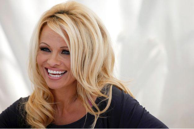 Pamela Anderson à une conférence de presse en 2012, à Hollywood.