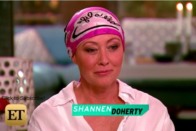 "Shannen Doherty, invitée de l'émission ""Entertainment Tonight"" sur CBS"